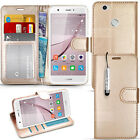 """For Huawei Nova (5"""")- Premium Wallet Leather Case Flip Cover + Screen Protector"""