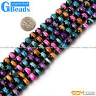 Colorful Tibet Fire Agate Gemstone Line Dzi Faceted Round Beads Free Shipping