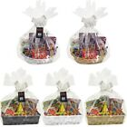 MAKE YOUR OWN HAMPER WICKER BASKET CELLOPHANE WOOD SHRED BOW XMAS GIFT SET KIT