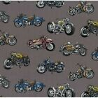 Nutex Classic Vehicles Cars and Bikes Collections 100% Cotton Patchwork Fabric