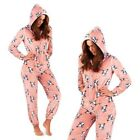 Loungeable Womens French Bulldog Print All In One Ladies Luxury Soft Sleepsuit