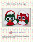 Owl Treat Bags-Christmas-Plastic Canvas Pattern or Kit