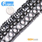 """Assorted Shapes Black Magnetic Hematite Gemstone Beads For Jewelry Making 15"""""""