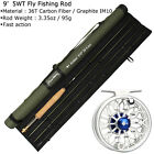 Fly Fishing Combo 3/4/5/8WT Carbon Fiber Fly Rod CNC Machined Fly Reel