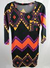 NEW Geometric Light Sweater Body Con Dress - Multiple Sizes