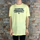 WESC Mr Kazuki Casual T-Shirt, Tee Brand New - in Yellow Size: L