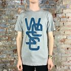 WESC Overlay Casual T-Shirt, Tee Brand New - in Grey Size: S