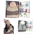Something Special Womens Luxury Chunky Knit Hat And Scarf Warm Winter Gift Set