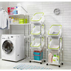 Two Or Three Laundry Baskets/Washing Machine Storage Rack/ Movable Wheels/Korea