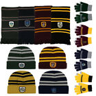 Harry Potter Hat+Scarf+Gloves SET Gryffindor Slytherin Hufflepuff Ravenclaw Gift