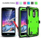 For LG Fortune/Phoenix 3/Rebel 2 Shockproof Kickstand Clip Case+Screen Protector