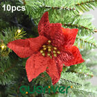 10x 15CM Christmas Artificial Fabric Flower Poinsettia Xmas Tree Decorations