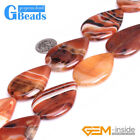 "30x40mm Drop Gemstone Dream Lace Agate Beads Strand 15"" Free Shipping"