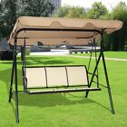 Patio 3Person Family Canopy Glider Hammock Chair Porch Ou...