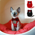 Cat Walking Harness and Lead Adjustable Strap Vest for Small Dog Puppy Kitten