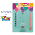 Novelty Place Flashing Number Candle Set Color Changing LED Birthday Cake Topper