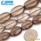 Natural Faceted Oval Smoky Quartz Stone Beads For Jewelry Making Free Shipping