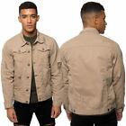 Loyalty & Faith Mens Collared Button Up Ripped Denim Jacket Casual Branded Coat