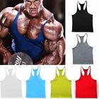 Mens Gym Sports Tank Tops Bodybuilding Vest T-Shirts Athletic Fitness Muscle