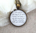 Walk Away From All The Fears and Faults You've Left Behind Pendant Necklace