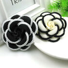 Charm Big Off White Cloth Camellia Flower Pin Brooch Women Suit Pin Brooch New