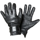 AUSTRIN BLACK LEATHER GLOVES - WOOL LINED - EU ARMY SURPLUS