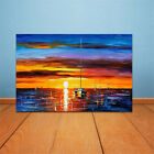 Modern Huge Wall Art Oil Painting On Canvas Sea Sunset Home Decor(Not Framed)