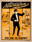Photo Print Vintage Poster: Stage Theatre Flyer Stage Hypnotist Magician A 15