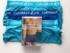 Caribbean Joe / Men's Boxer Briefs / 3 Pack / Cotton Stretch / Blue & (2) Aqua