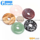 Donut Ring Peace Buckle Natural Gemstone Beads for Necklace Earring Jewelry