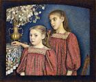Two Sisters Or Serruys Sisters Lemmen Georges 1894 Art Photo/Poster Reprint 6x4-