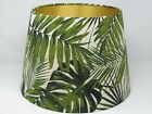NEW Empire Tapered Botanical Palm Gold Lined Lampshade Lightshade