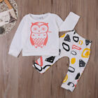 Newborn Kids Baby Girls Clothes T-shirt+Pants Leggings Outfits Playsuit UK Stock