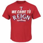Majestic Texas Rangers Red 2016 Postseason We Came To Reign Big