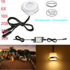 1-50pcs 47mm Warm White LED Deck Lights Outdoor Yard Stair Lamp Kit Low Voltage