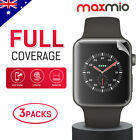 3x Maxmio HD Full Screen Protector for Apple Watch Series 1/2/3 38mm 42mm iWatch
