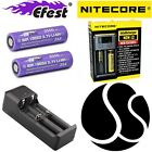 Genuine Efest IMR 18650 High Drain Batteries 2500mAh 35A Flat Top Nitecore i2