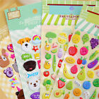 2sheets 3d puffy bubble sticker toys children