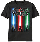 Star Wars Sabers Rise GLOW In The Dark Licensed Kid's Youth T-Shirt - Black $14.99 USD