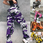 New Womens Camo Cargo Trousers Casual Pants Military Army Combat Camouflage Jean