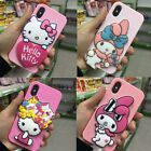 Cute mirror Melody hello kitty Lanyard soft case Cover for iPhone X 8 7 6S Plus