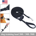 Nylon Pet Dog Leash Long Obedience Recall Foot Feet Training Lead 20/30 /50 FT
