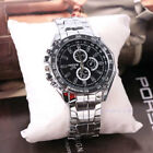 Men's Stainless Steel Quartz Analog Wrist Watch Sport Watches Gifts Luxury image