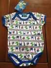 NEW***MON PETIT® Cute Baby BOYS Quality Short Sleeve One Piece***Blue***6-9 mth