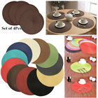 Внешний вид - 4PCS Tan Dining Table Place Mats Cotton Placemats Protectors Set of 4 Lot Bulk