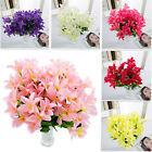 30 Heads Artificial Lily Silk Fake Flowers Bouquet Home Wedding Party Decoration