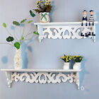 Wood Wall Mount Shelf Display Floating Nesting Decorative Storage Shelves White