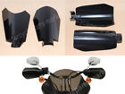 Motorcycle Black Coffin Cut Hand Guard Guards For Harley Dyna Baggers Sportster