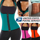 Swatting Sauna Zipper Body Shaper Women Slimming Vest Thermo Neoprene Waist Trainer
