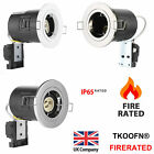 4/10pcs Modern Chrome/Brushed/White Fire Rated IP65 GU10 Mains LED Spotlights
